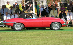 1963 Jaguar XKE at Hilton Head Receiving Best in Class Trophy 2005